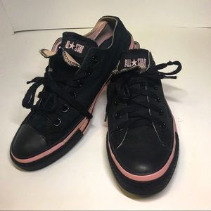 Black/Pink All Star Converse